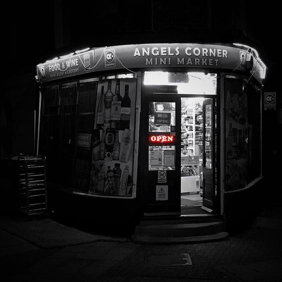 When it's cold outside anywhere can seem warm and welcoming  #london #islington #angel #pictureangel #pictureislington #night #shop #winter by dhawbery