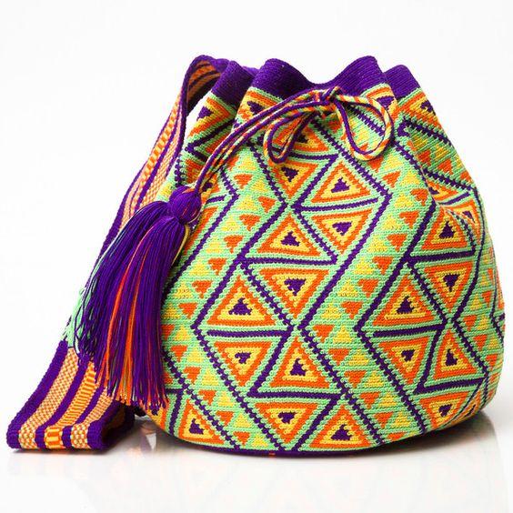 HANDMADE MOCHILAS | WAYUU BOHEMIAN BAGS   Woven by the Indigenous Wayuu of La Guajira, Colombia.  www.wayuutribe.com: