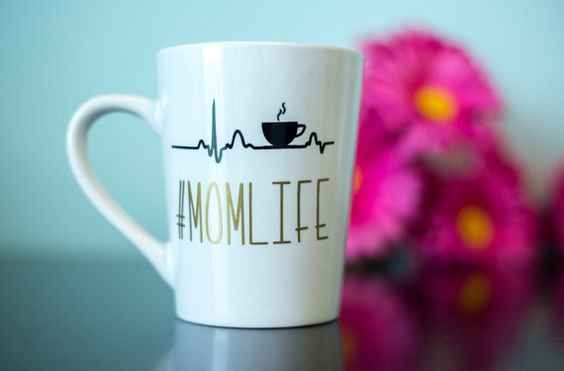 Mom Life Coffee Mug MomLife Funny Coffee by CandidCrazyCreations