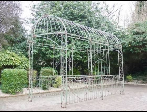 Large Rustic Distressed Metal Ornate Green Garden Gazebo Pavilion Pagoda Canopy Google Shopping In 2020 Garden Gazebo Easy Gazebo Rectangular Gazebo