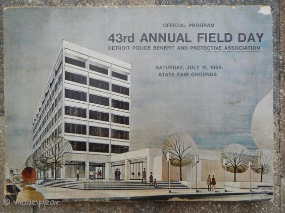 1969 Detroit Police Benefit Field Day Programs- Historical Advertising