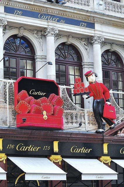 Cartier, New Bond Street, London - Ideas for your luxury Christmas #christmas #ideas #luxury - Holiday Crafting