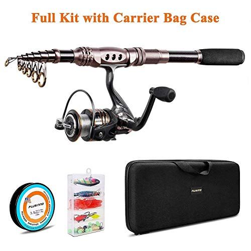 Plusinno Spinning Rod And Reel Combos Telescopic Fishing Rod Pole With Reel Line Lures Hooks Fishing Carr Telescopic Fishing Rod Fishing Rod Fishing Rod Holder