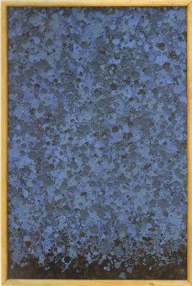 Radoslav Kratina / Modrá struktura / 1963 / barva / 43 x 28 cm