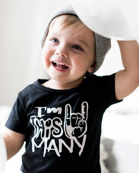 Second Birthday Toddler T-shirt I/'m This Many