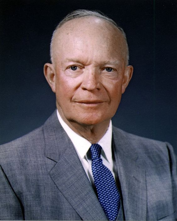 Dwight D. Eisenhower 34th U.S. President    Born: October 14, 1890, Denison, TX Died: March 28, 1969, Washington, D.C. Vice president: Richard Nixon (1953–1961) Presidential term: January 20, 1953 – January 20, 1961 Party: Republican Party Parents: David Jacob Eisenhower, Ida Stover Eisenhower