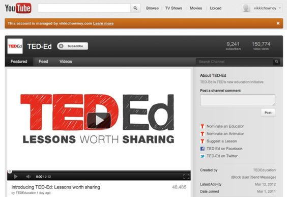 TED launches new YouTube channel as part of education drive