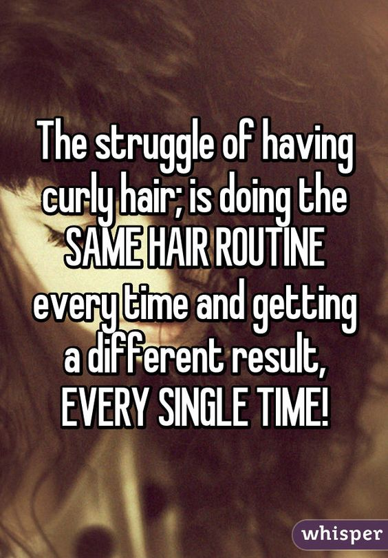 The struggle of having curly hair; is doing the SAME HAIR ROUTINE every time and getting a different result, EVERY SINGLE TIME!