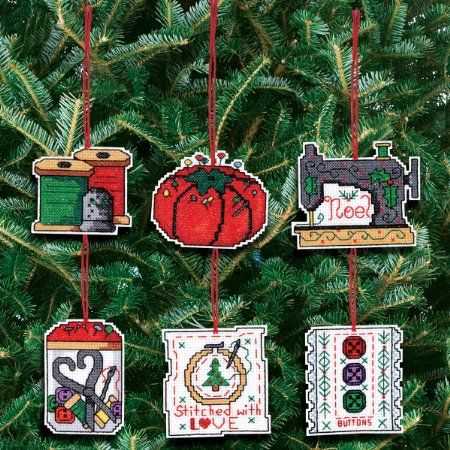 Amazon.com: Janlynn Counted Cross Stitch Kit, Sewing Ornaments: Home & Kitchen