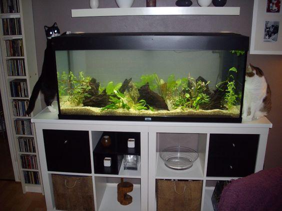 Aquarium Kallax Fish Tank Stand Tank Stand Aquarium