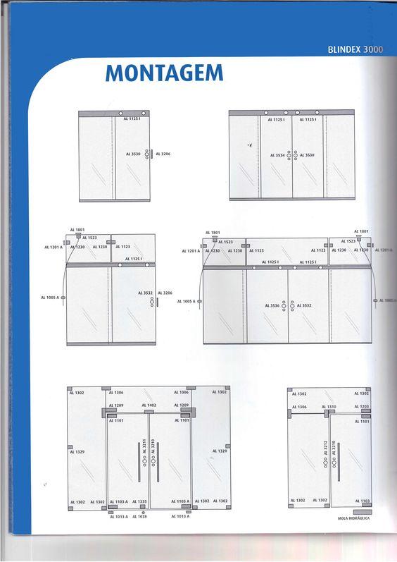 Montagem de porta blindex