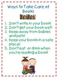 Anchor Chart: Book Care