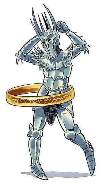 """Happy Friday! Love, hula hoop-loving Sauron. """"One ring to rule them all."""":"""