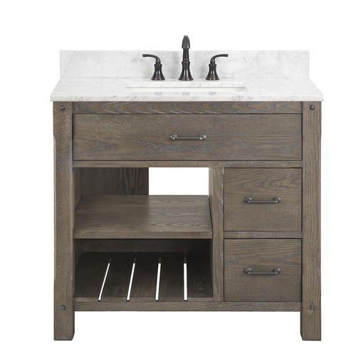Foremost Roberson 36 W X 21 1 2 D Dark Oak Bathroom Vanity Cabinet Oak Bathroom Vanity Bathroom Vanity Cabinets Bathroom Vanity