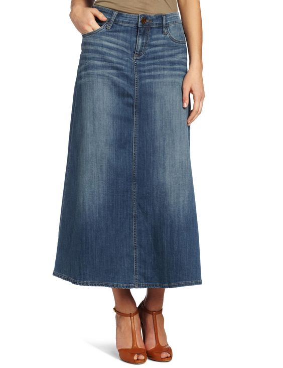 Long Denim Skirts For Sale