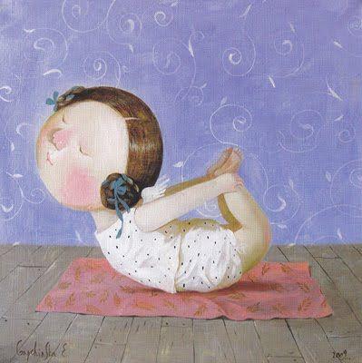 Yoga for Angels by Gapchinska