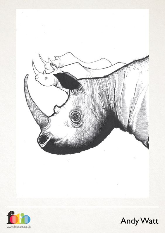Andy Watt: www.folioart.co.uk/illustration/folio/artists/illustrator/andy-watt - Agency: www.folioart.co.uk - #illustration #art #digital #rhino