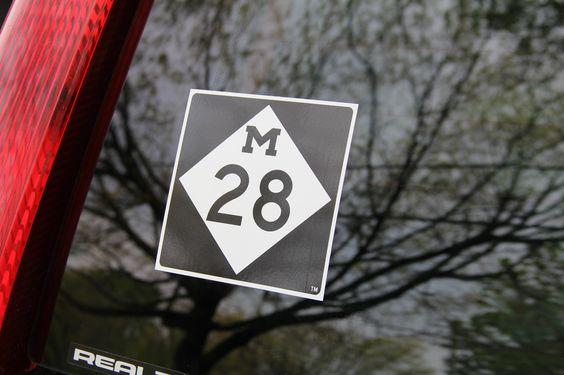 Highway M-28 Sticker