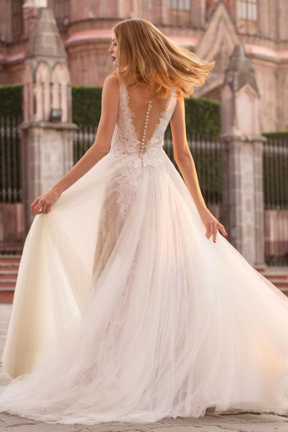 Image By Abby Sevcik On Yes Wedding Dresses Lace A Line Wedding Dress Watters Wedding Gown
