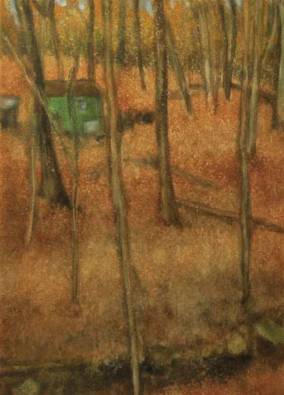 A Shack in the Woods by Ellen LoCicero Acrylic on Paper