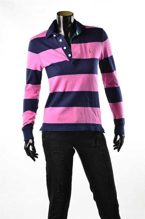 Ralph Lauren Shirts NWT Womens Rugby Pony Logo Long Sleeve ...