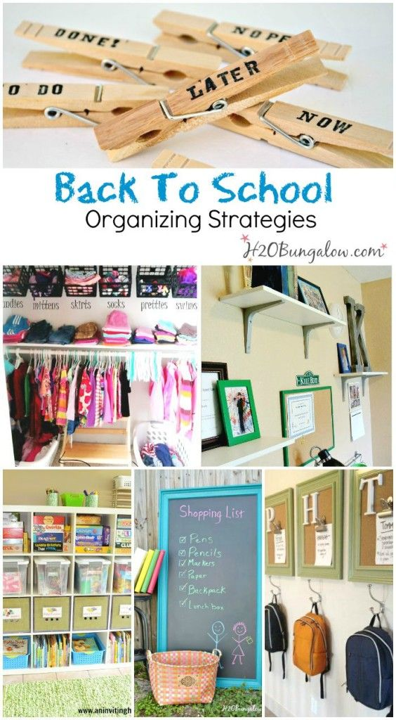 Back to school organizing tips to help you start the new school year ready , organized and with less stress H2OBungalow.com: