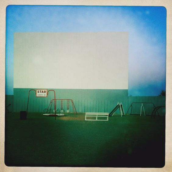 Best seats in the house: The Star Drive-In @ dusk.