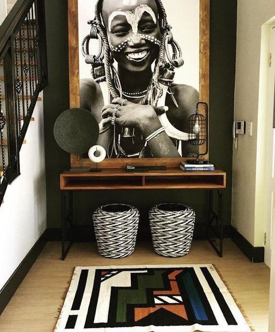 """Decoración étnica: """"Yo tenía una granja en África"""" #decoration #onlinedecoration #onlineprojets #homedecor #interiordesign"""