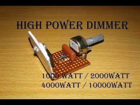 High Power Dimmer Upto 9500 Watt Light Dimmer Switch High Watt Vedio In Hindi Urdu Youtube Dimmer Light Dimmer Switch Dimmer Switch