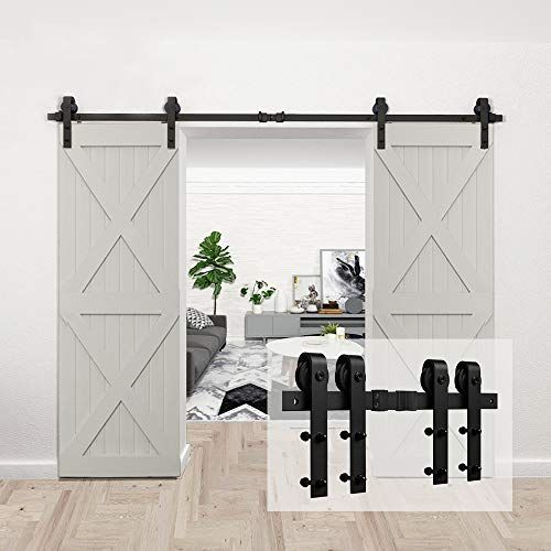Homlux 10ft Heavy Duty Sturdy Sliding Barn Door Hardware Https Www Amazon Com Dp B07vd3m5wk Ref C Sliding Barn Door Hardware Barn Door Hardware Barn Door