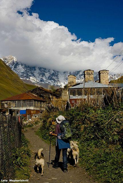 In Ushguli Caucasus
