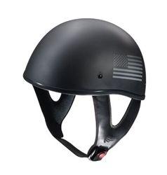 Fulmer patriotic motorcycle helmet with American Flag in black and gray. #fulmer #helmets #patriotic