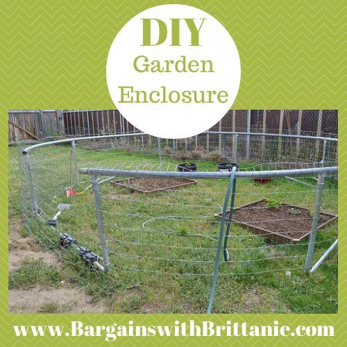 DIY Garden Enclosure Using a Trampoline Frame!