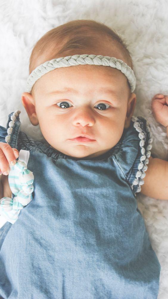 Braided Baby Headband - Boho Baby Headband - Newborn Headband - www.hollyblossoms.etsy.com