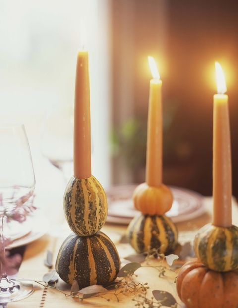 Bring the harvest indoors with these lovely candles.