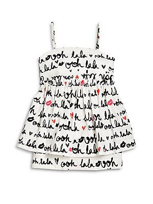 "MILLY MINIS Toddler's & Little Girl's ""Oh La La"" Printed Peplum Dr"