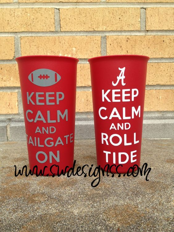 Keep Calm Tailgating Tumbler Roll Tide War by StuartWallaceDesigns