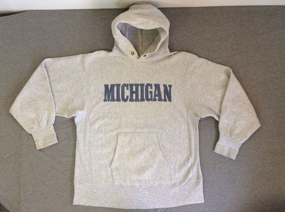 Vintage CHAMPION REVERSE WEAVE Sweat Shirt Hoodie MICHIGAN ...