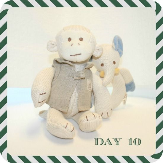 FitBump 12 Days of Fitness Giveaway: Day 10: Organic Cotton Baby Toys  These sweet organic cotton baby toys from MiYim ($40 value)—a stuffed monkey and an elephant-shape soft teether—will keep a little one occupied during your workout or become a staple in the running stroller. (And they make a great gift.)