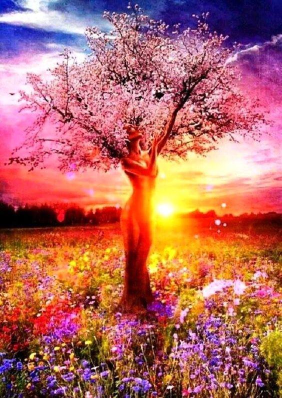 En un instante sin tiempo, el ser comprende que toda la creación, toda la belleza y abundancia de este planeta, es el resultado de ese gozo perenne en el que vive la Pachamama. Una clara revelación atraviesa la mente: el cielo existe en la plenitud terrenal y no es preciso esperar la muerte para habitarlo. Se trata de una comunión, de dar el salto y alcanzar las luminosas semillas de los dioses para sembrarlas en la realidad cotidiana, de... http://www.angelacastillo.com/paz/