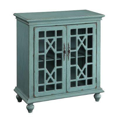 50694/2DR/CABINET Aqua 2-Door Cabinet