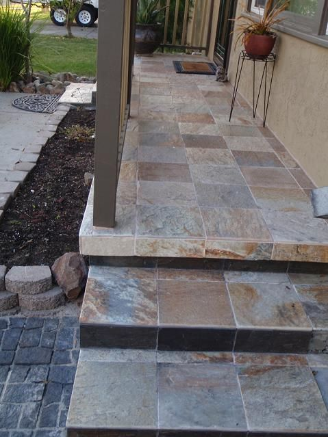 Outdoor tiles outside steps and photos on pinterest - Exterior tile paint design ...