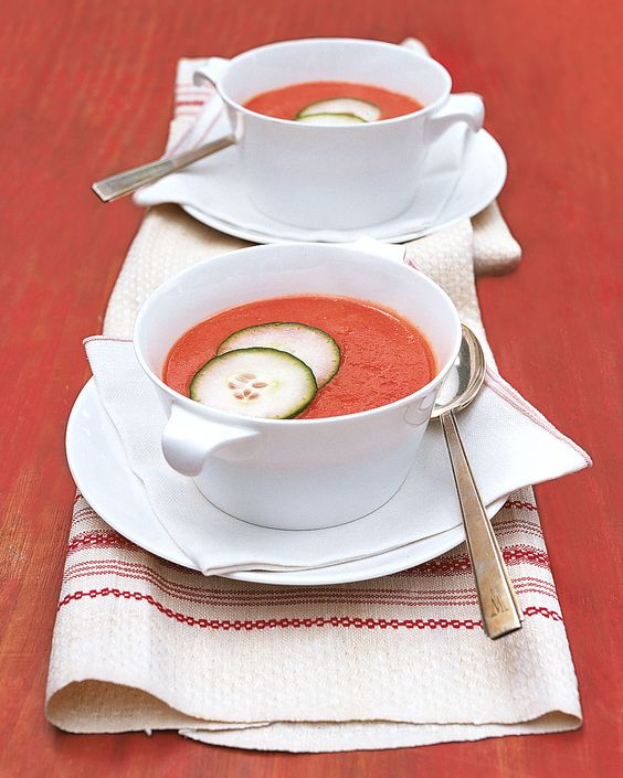 An easy-to-make twist on the classic chilled soup.