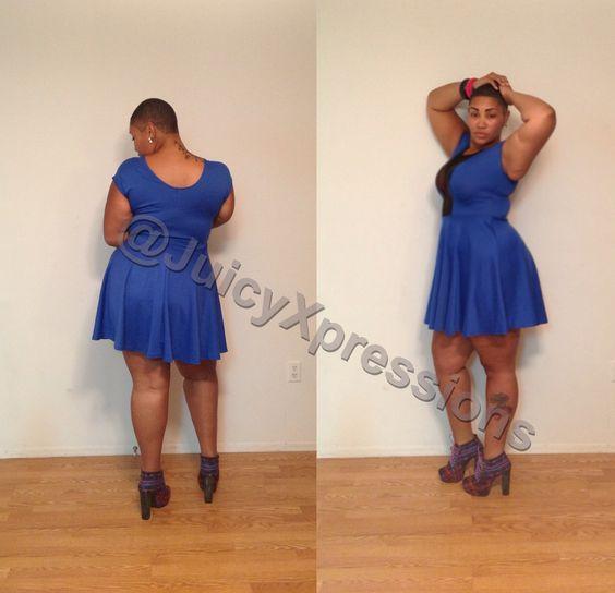 plus size baby doll dresses | Plus Size Royal Blue Baby Doll Dress ...
