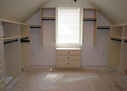 Walk In Closets with Angled Ceiling provided by California