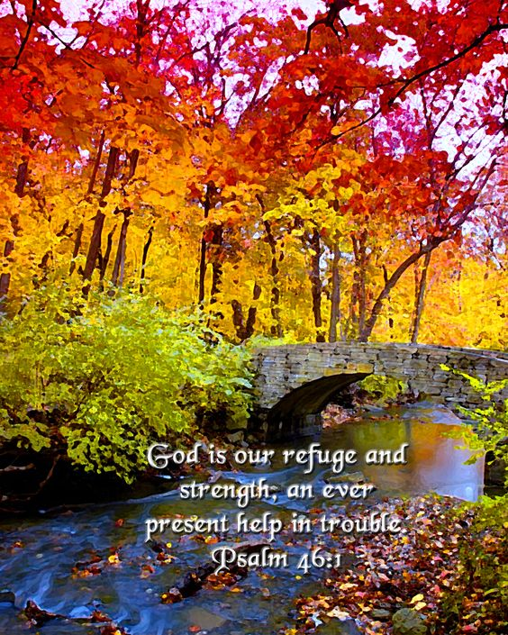 God is our refuge and strength, an ever present help in trouble. Psalms 46:1 / BIBLE IN MY LANGUAGE: