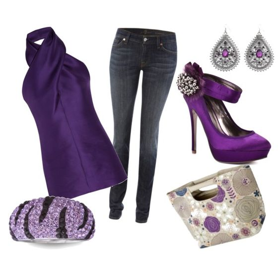 Purple purple purple!#Repin By:Pinterest++ for iPad#: Purple Shoes, Purple Outfits, Favorite Color, Purple Passion, Things Purple, Color Purple, Purple Fashion, Purple Purple, Purple Top