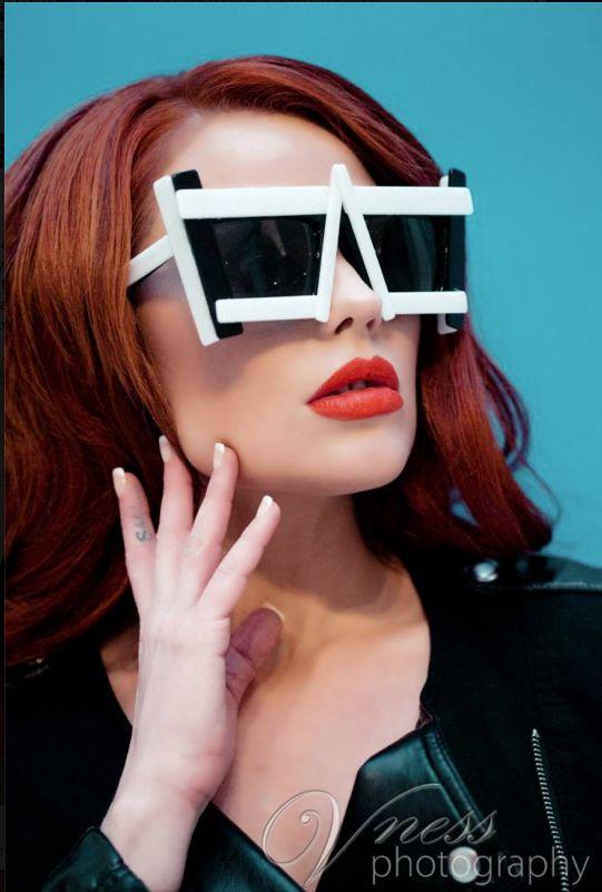 Readheads have more fun in Mercura Sunglasses  Model: Ashley Swilley  Eyewear Designer: Mercura NYC  MUA: Drama Artistry   Hair: Alix Maya Clymer - OMG I love your Hair   Stylist: Troy Artis