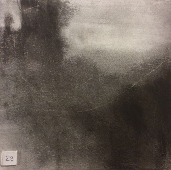 Tonalist study no 23 by Tonie Rigby, charcoal and graphite, 15 cm sq.£15