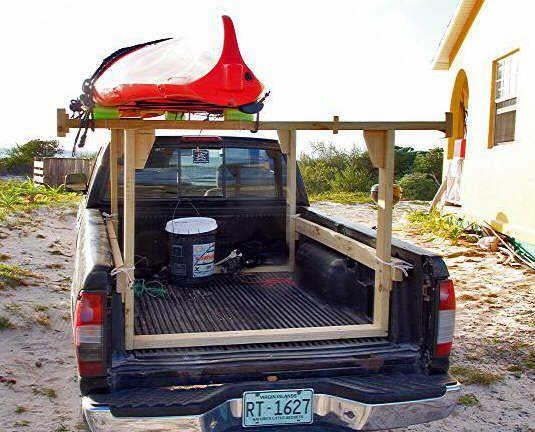 Kayak Racks For Pickup Trucks >> homemade truck rack   Easily Built Truck Rack for ...